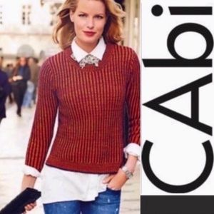 CAbi lava stripe sweater